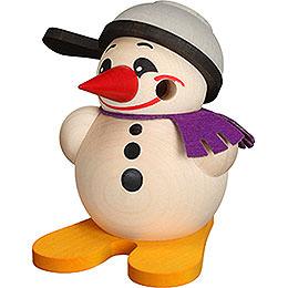 Smoker ball figure Cool - Man with ski and pan  -  9cm / 3.5inch