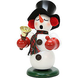 Smoker snowman with bell  -  23cm / 9.1inch
