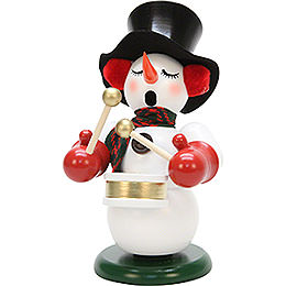 Smoker snowman with drum  -  23,5cm / 9.2inch