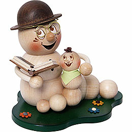 Smoker worm Grandad - worm Rudi with grandchild  -  ca. 14cm / 5.5inch