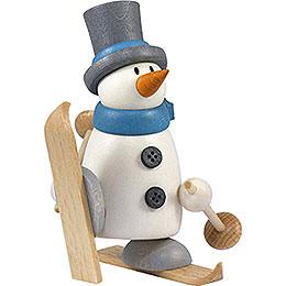 Snow man Fritz with ski    -  9cm / 3.5inch
