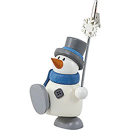 Snow man Otto with sign holder  -  8cm / 3.1inch