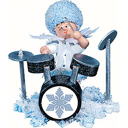 Snowflake with drum set  -  5cm / 2inch