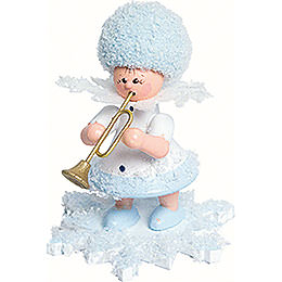 Snowflake with trumpet  -  5cm / 2inch