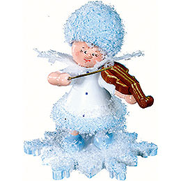Snowflake with violin  -  5cm / 2inch