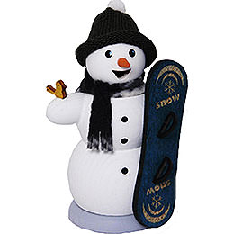 Snowman with Snowboard  -  13cm / 5.1 inch