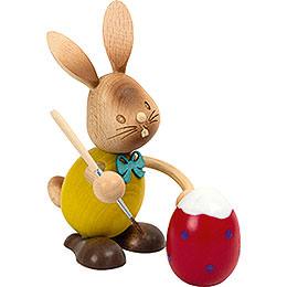 Snubby Bunny egg painter  -  12cm / 4.7inch