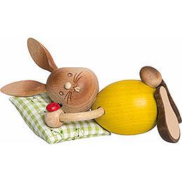 Snubby Bunny sleepy head  -  12cm / 4.7inch