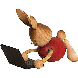 Snubby Bunny with laptop  -  12cm / 4.7inch