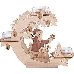 Tea Light Candle Holder  -  Santa Claus  -  15cm / 6 inch