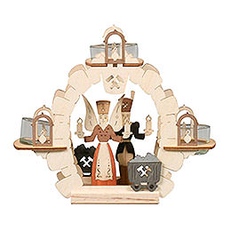 Tealight candle holder Angel/Miner  -  15cm / 6 inch