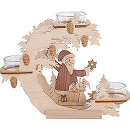 Tealight candle holder Santa Claus  -  15cm / 6 inch