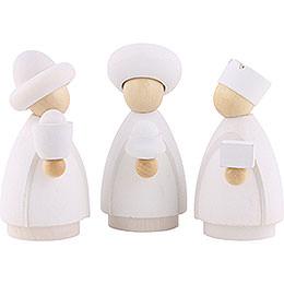 The Three Wise Men  -  Modern White/Natural  -  8,5x3,5x8cm / 3.3x1.4x3.1 inch