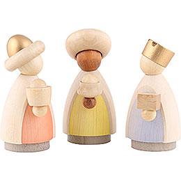 The three wise men  -  modern glazed  -  8,5x3,5x8cm / 3.3x1.4x3.1inch
