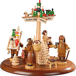 Theme Platform for Electr. Music Box  -  Town of Seiffen  -  13cm / 5 inch