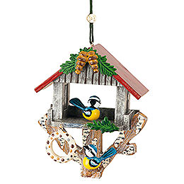 Tree Ornament  -  Bird House  -  8,5cm / 3,3 inch