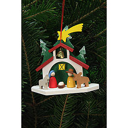 Tree Ornament  -  Chapel with the Holy Family  -  9,2x8,8cm / 4x3 inch