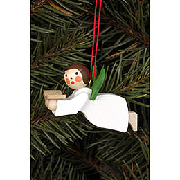 Tree Ornament  -  Floating Angel with Book  -  4,4x2,6cm / 1.7x1.0 inch