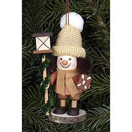 Tree Ornament  -  Lanternman Natural  -  11,5cm / 5 inch