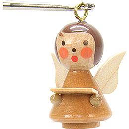 Tree Ornament  -  Mini - Angel Natural Colors  -  1,7x2,5cm / 1x1 inch