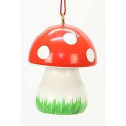 Tree Ornament  -  Mushroom   -  2,6x3,6cm / 1x1 inch