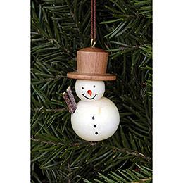 Tree Ornament  -  Snowman Natural  -  2,5x4,6cm / 1.0x1.8 inch