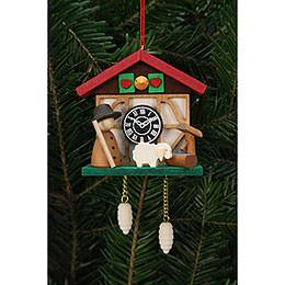 Tree Ornaments Cuckoo Clock Shepherd  -  7,0x6,7cm / 3x3 inch