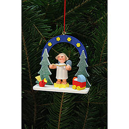 Tree Ornaments Starry Ski with Angel  -  7,5x7,1cm / 3x3 inch