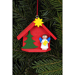 Tree ornament Angel in house  -  6,0 x 5,2cm / 2.4 x 2.0inch
