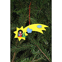 Tree ornament Angel in shooting star  -  12,9x5,2cm /5.1x2inch
