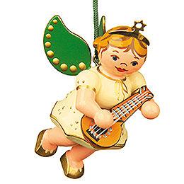 Tree ornament Angel with Mandolin 6cm / 2,5inch