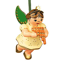 Tree ornament Angel with Pan Flute 6cm / 2,5inch