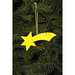 Tree ornament Comet yellow  -  9,2 / 3,6cm  -  4 x 1 inch