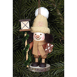 Tree ornament Lanternman natural  -  11,5cm / 5 inch