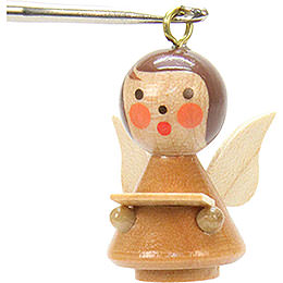 Tree ornament Mini - Angel natural colors  -  1,7 x 2,5cm / 1 x 1 inch