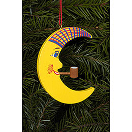 Tree ornament Moon with Pipe  -  6,0 x 7,2cm / 2 x 3 inch