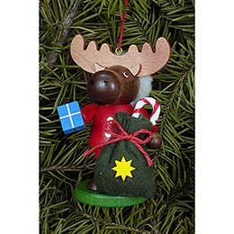 Tree ornament Moose Santa  -  9,5cm / 4 inch