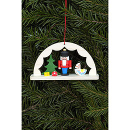 Tree ornament Nutcracker in light arch  -  9,1 x 4,9cm / 3.6 x 1.9inch