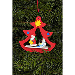 Tree ornament Santa in Tree  -  7,2 x 7,1cm / 3 x 3 inch
