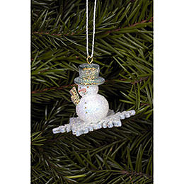 Tree ornament Snowman  -  4,5 x 3,5cm / 2 x 1 inch