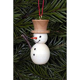 Tree ornament Snowman natural colors  -  2,0 x 4,0cm / 1 x 2 inch