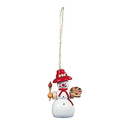 Tree ornament  -  Snowwoman  -  8cm / 3 inch