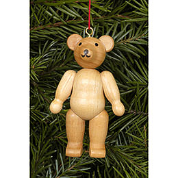 Tree ornament Teddy natural colors  -  4,5 / 6,2cm  -  2 x 2 inch