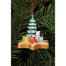 Tree ornament  -  Toys on Ginger Bread star  -  5,2 x 4,8cm / 2x2 inch