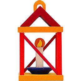 Tree ornament lantern, red and orange  -  5cm / 2inch