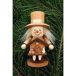 Tree ornament rascal Black Forester natural  -  10,5cm / 4.1inch