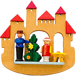 Tree ornament town gate Christmas tree  -  7cm / 2.8inch