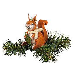 Tree ornament tree clip squirrel  -  7,5cm / 3inch