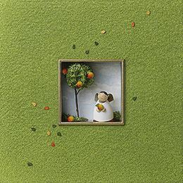 "Wall Picture ""For the Bon Vivants""  -  18x18x5cm / 7x7x2 inch"