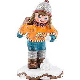 Winter Children Schoolgirl  -  7cm / 3inch